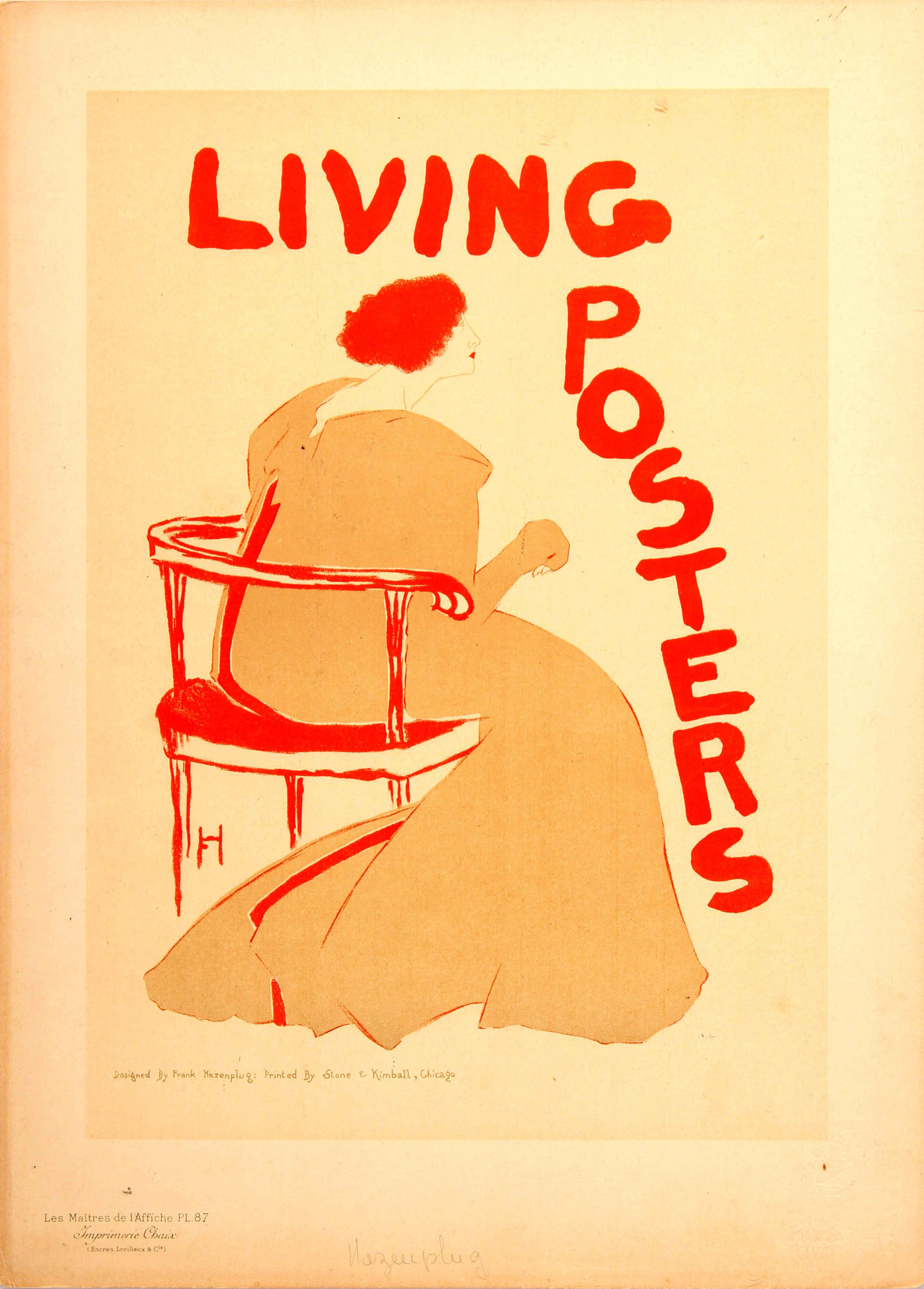 Advertising Poster Living Posters Frank Hazenplug Maitres de lAffiche