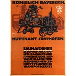 Advertising Poster Construction Machines Ludwig Hohlwein
