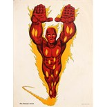 Advertising Poster Superheroes Human Torch Marvel
