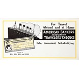 Advertising Poster American Bankers Association Travelers Cheques