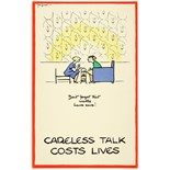 WWII Poster Careless Talk Fougasse High Tea Don't forget