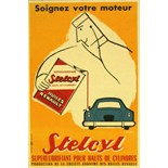 Advertising Poster Stelcyl Car Superlubricant