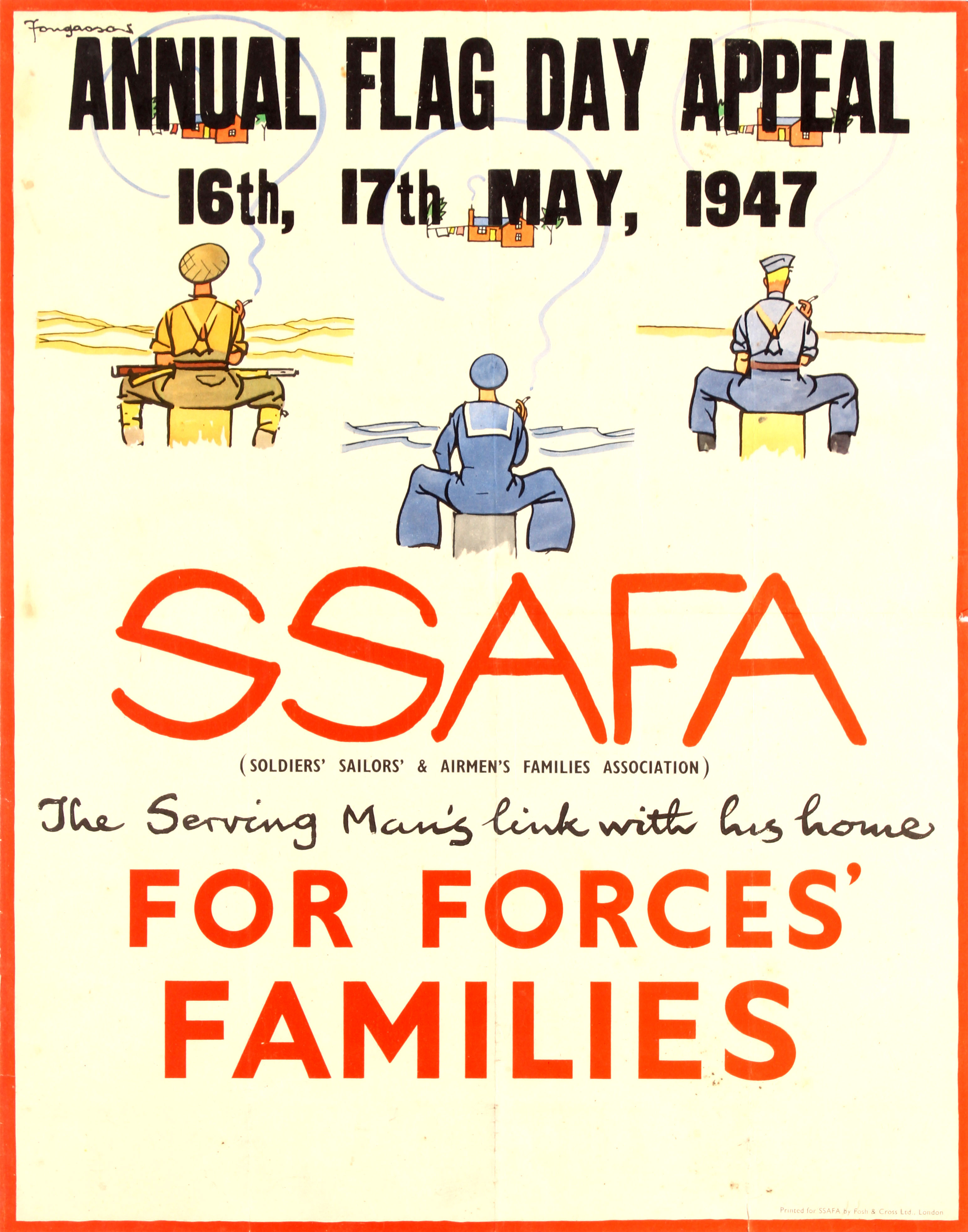 Propaganda Poster SSAFA Forces Families Fougasse UK