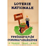 Advertising Poster Loterie National Restaurants