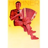Advertising Poster Hohner Accordion