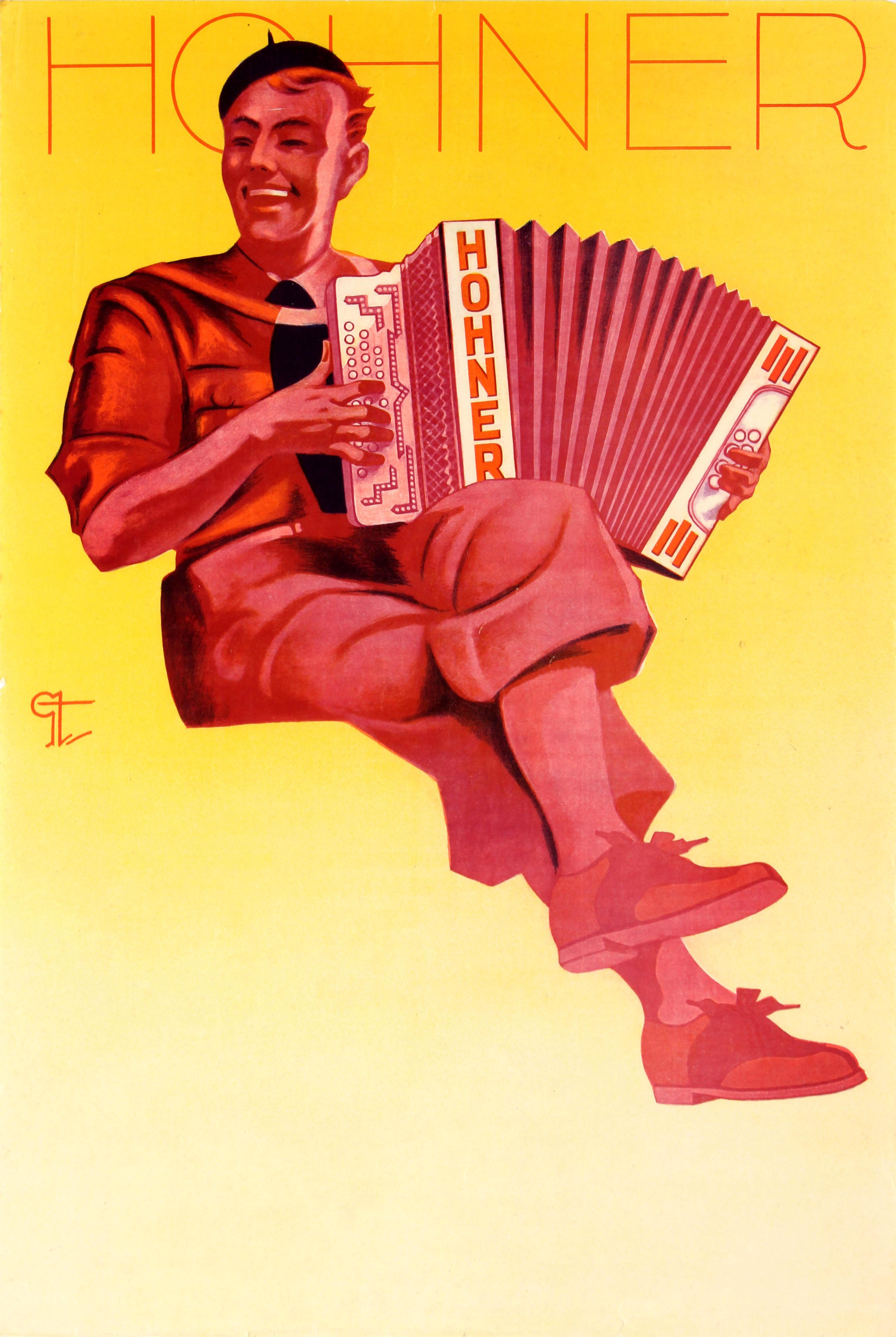 Advertising Poster Hohner Accordion