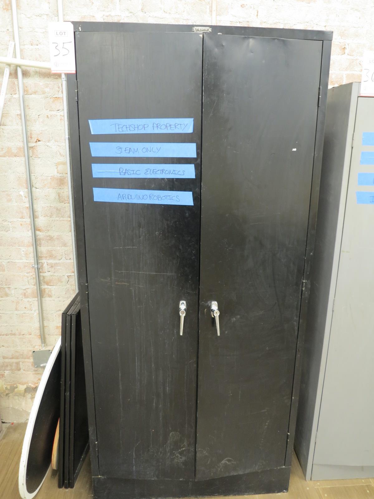 Lot 35 - 2-DOOR STORAGE CABINET W/ CONTENTS