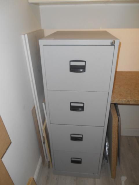 Lot 3 - *Four Drawer Foolscap Filing Cabinet (Grey)