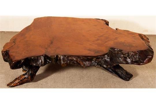 Vollmassiver Kirschbaum Bzw Redwood Wurzelholz Loungetisch