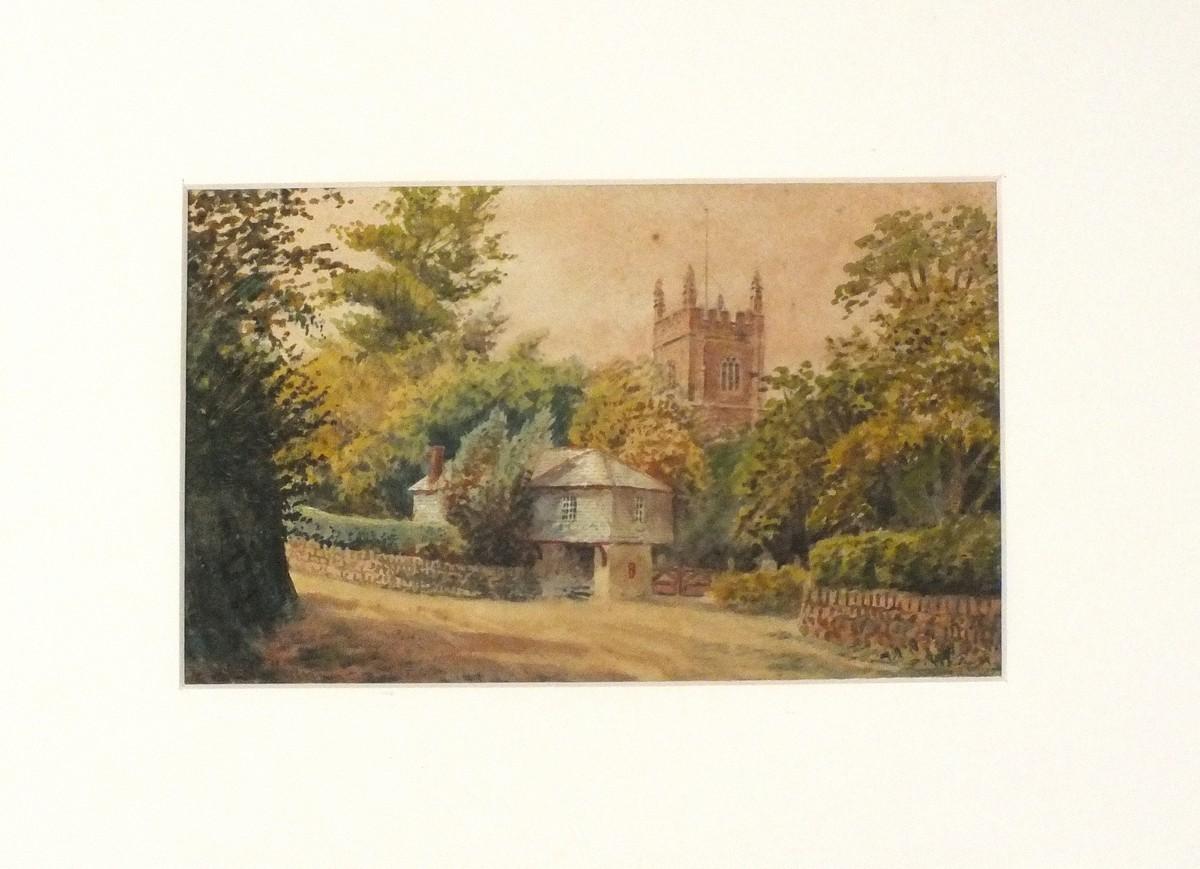 "Lot 52 - 19th Century British SchoolKenwyn Church, Watercolour, Indistinctly signed lower left, 6"" x 9.5"" ("