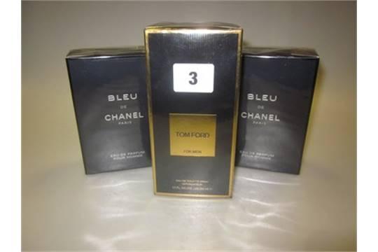 Two Bleu De Chanel Pour Homme Eau De Parfum 100ml Tom Ford For