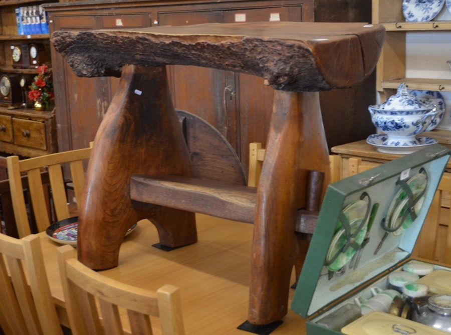 Lot 36 - A Maxie Lane rustic elm coffee table (Hyde Tavern table)