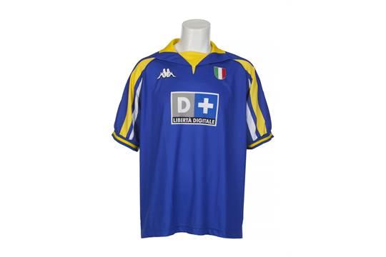 sports shoes 3b0ff eaeb0 A Kappa brand Juventus football jersey worn by Zinedine ...