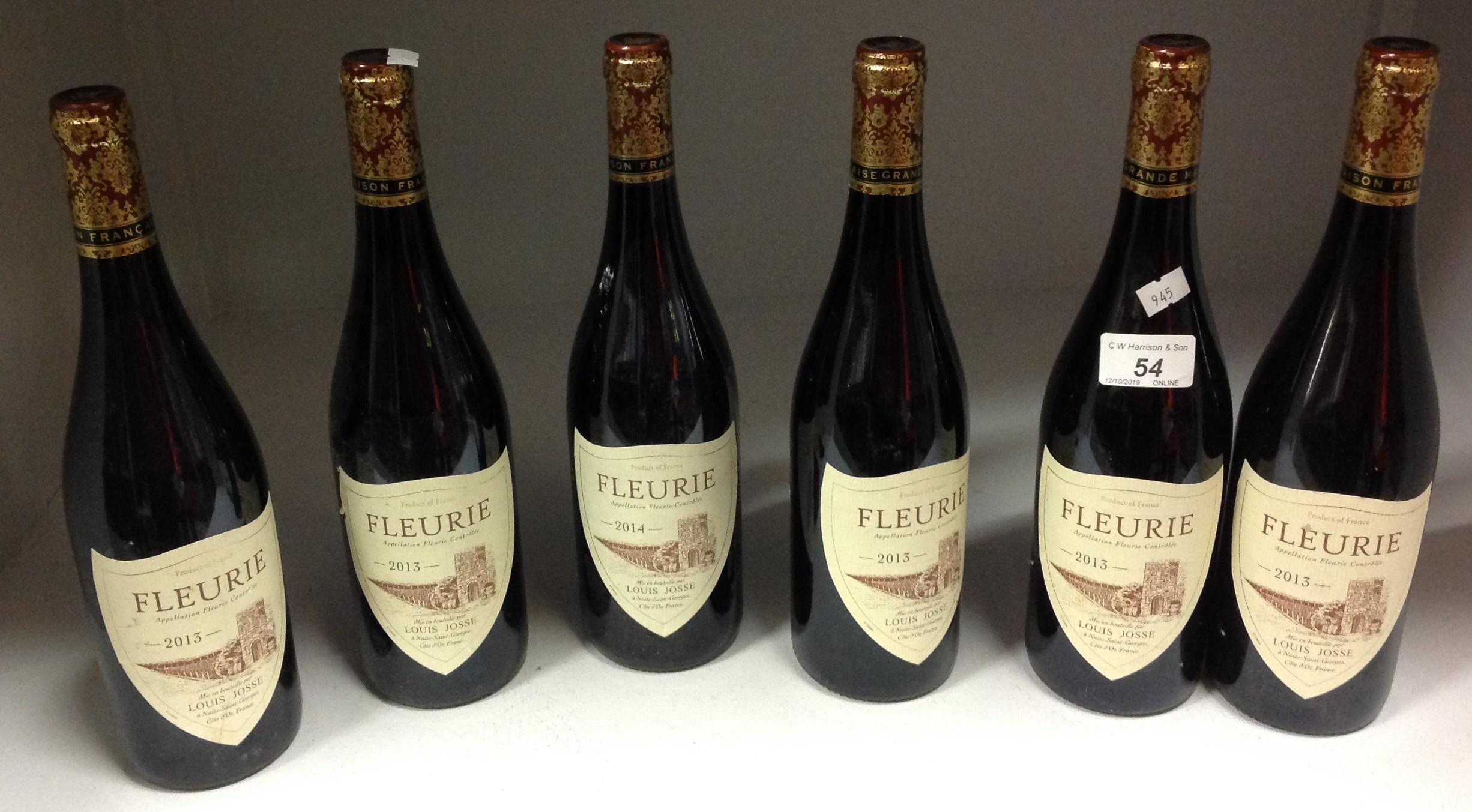 Lot 54 - 6 x 750ml bottles Louis Josse Fleurie
