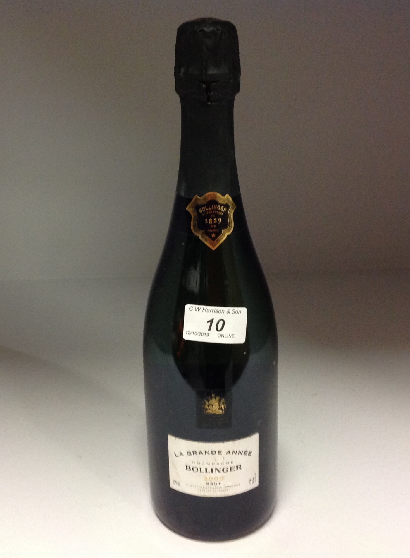 Lot 10 - 75cl bottle La Grande Annee Bollinger Br