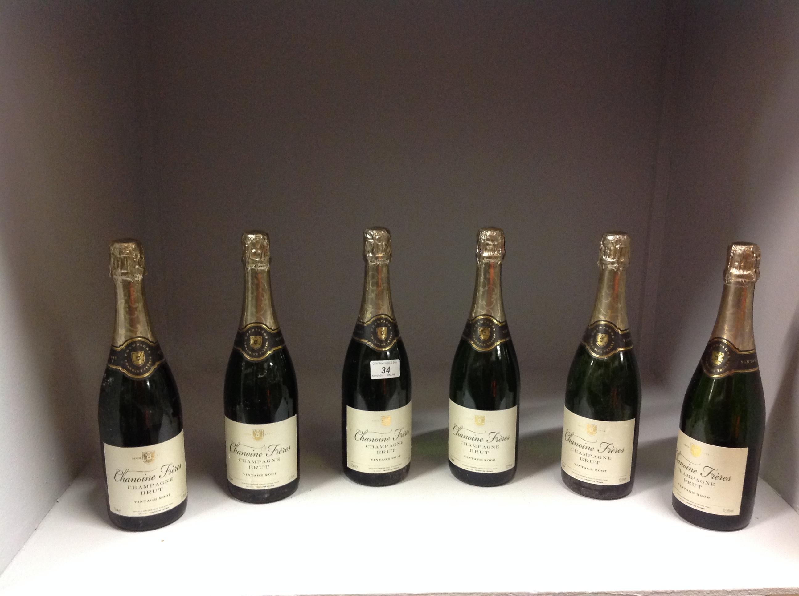 6 x 75cl bottles Chanoine Freres Champga - Image 2 of 2