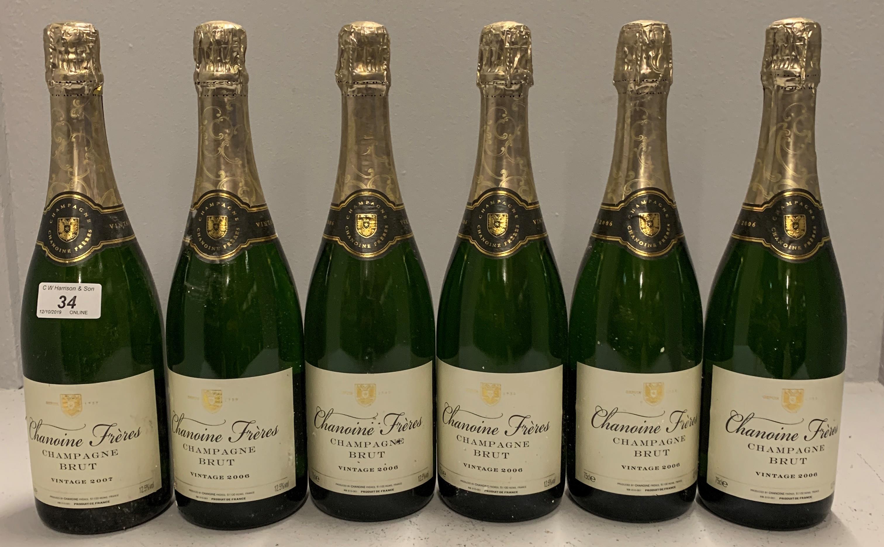6 x 75cl bottles Chanoine Freres Champga
