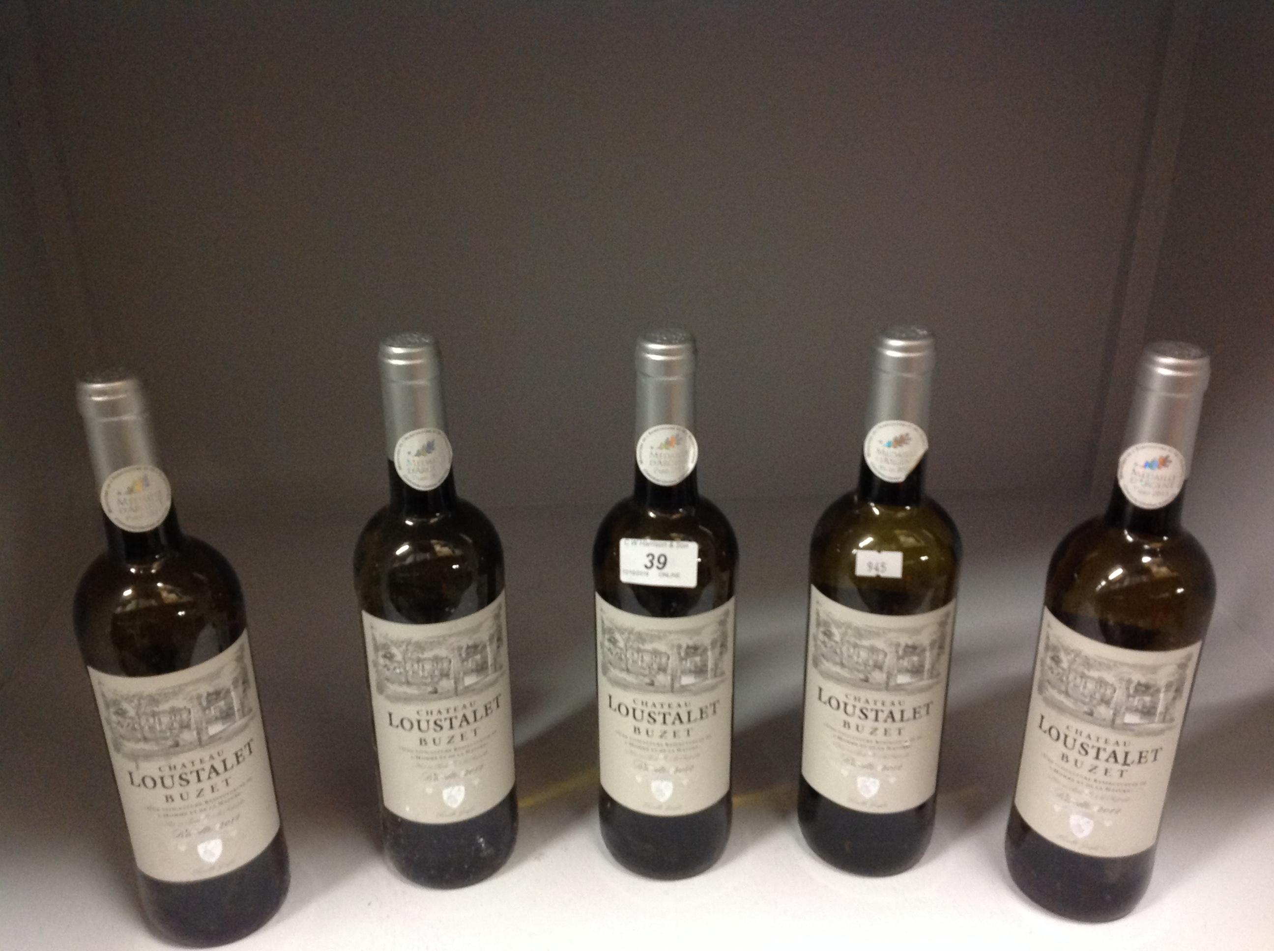Lot 39 - 5 x 750ml bottles of Chateau Loustalet B