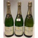 3 x 750ml bottles vintage 2006/7/9 Chano