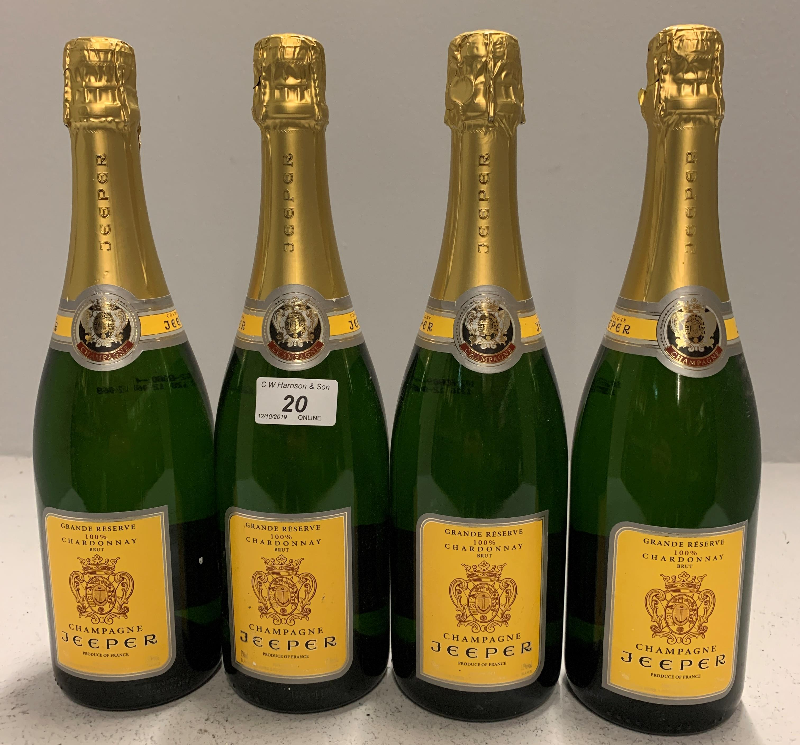Lot 20 - 4 x bottles Grand Reserve 100% Chardonna