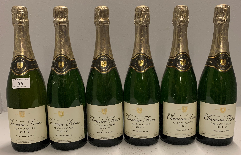 Lot 35 - 6 x 75cl bottles Chanoine Freres Champga