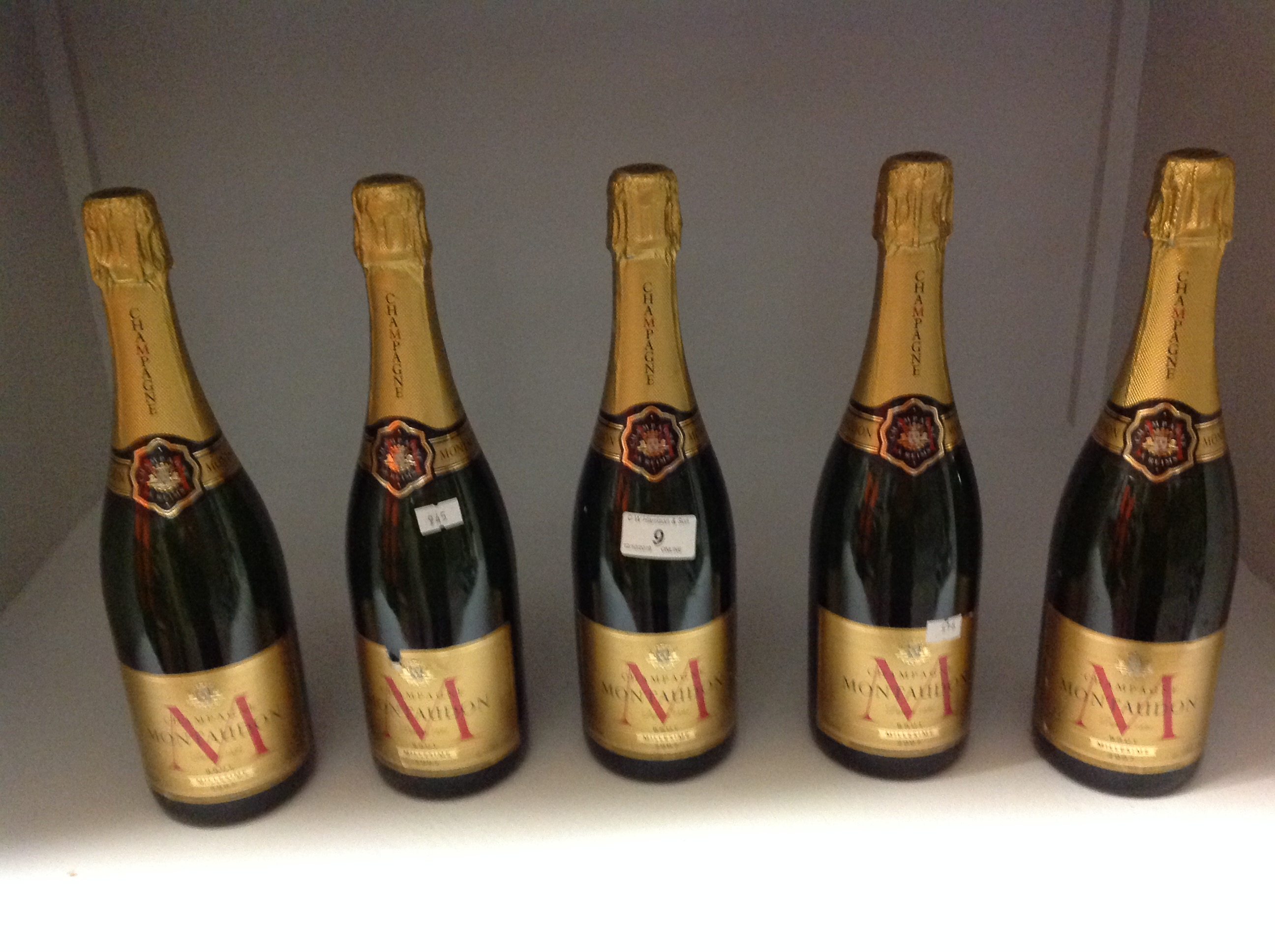 Lot 9 - 5 x 750ml bottles Montaudon 2007 Brut Mi