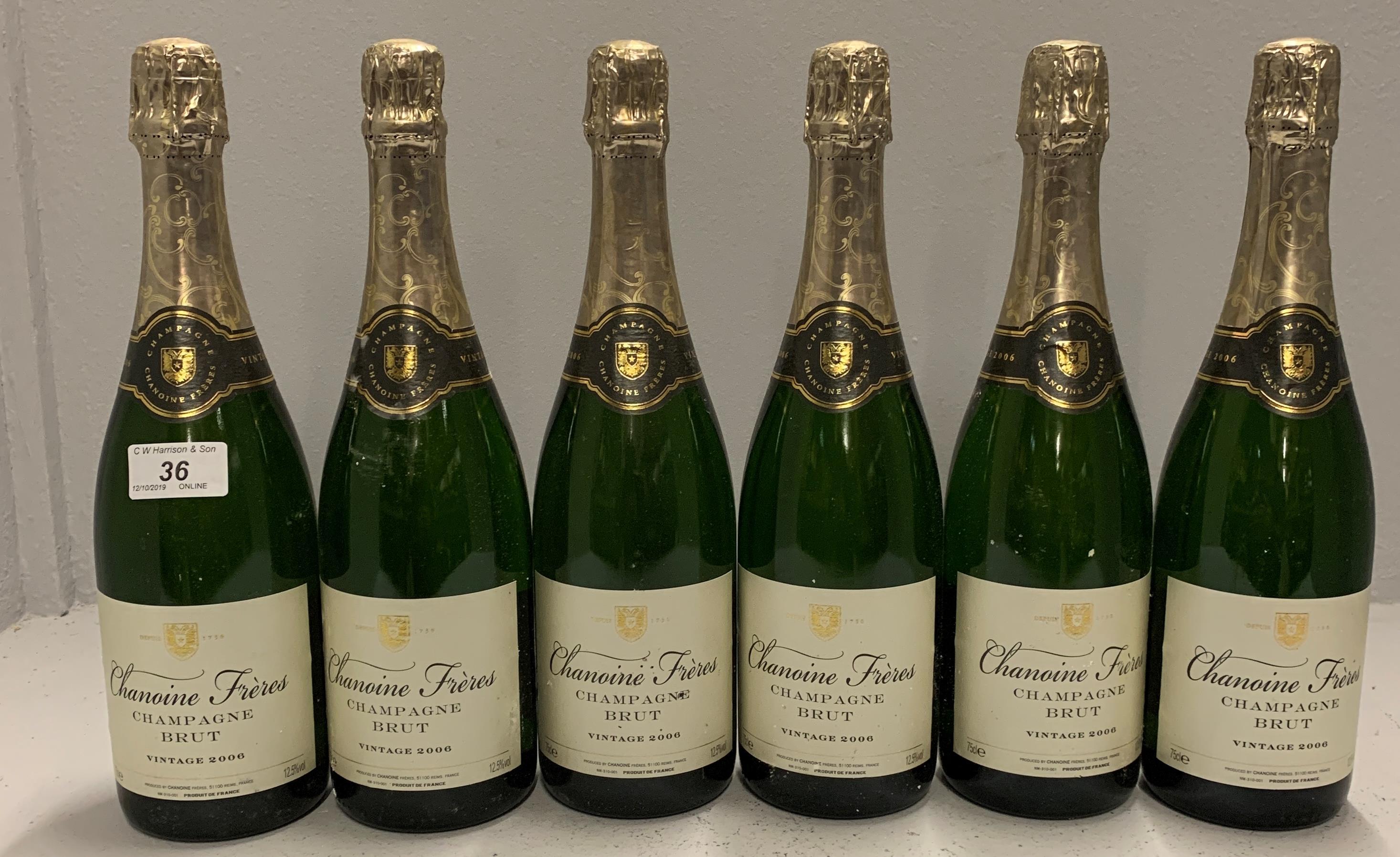 Lot 36 - 6 x 75cl bottles Chanoine Freres Champga