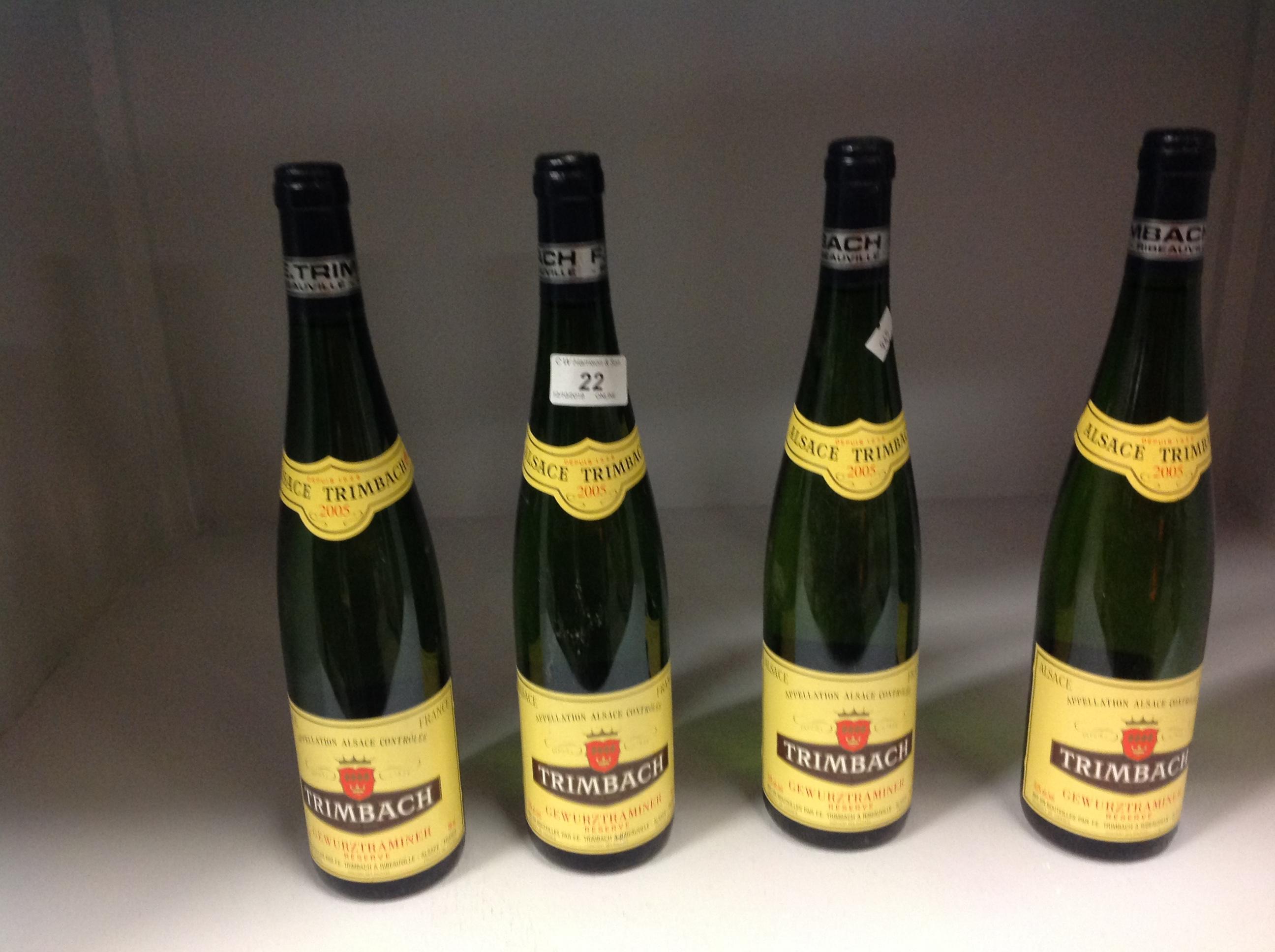 Lot 22 - 4 x 750ml bottles Trimbach Gewurztramine