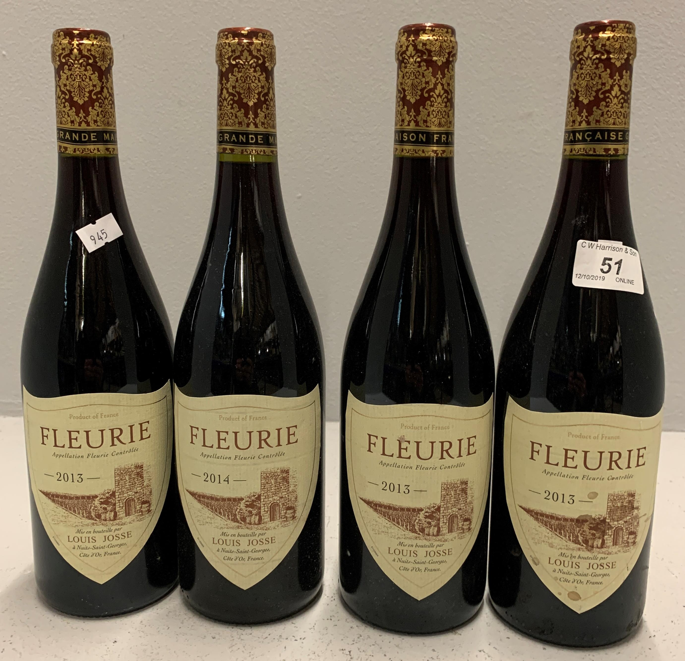 Lot 51 - 4 x 750ml bottles Louis Josse Fleurie