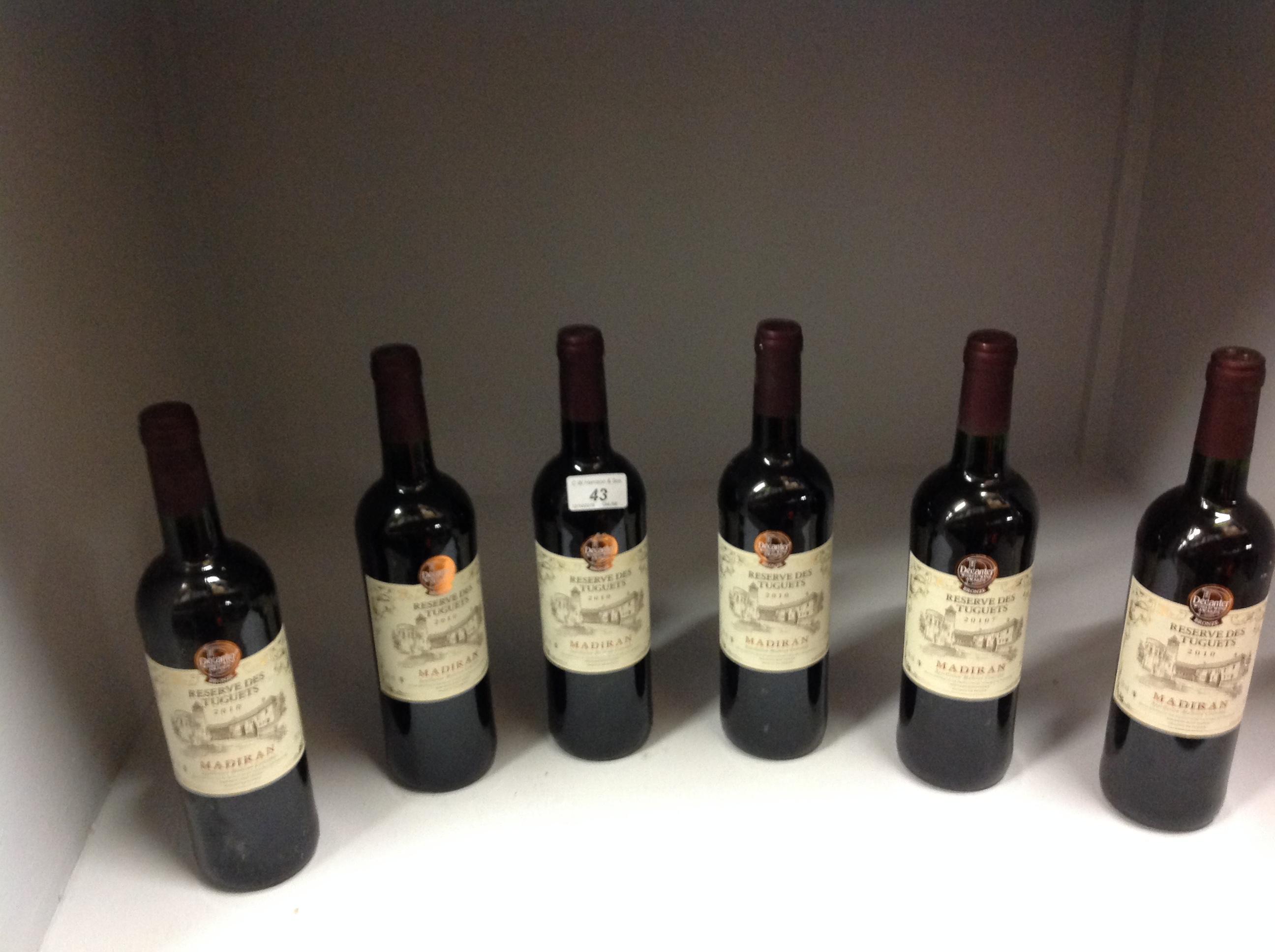 Lot 43 - 6 x 750ml bottles Reserve Des Tuguets 20