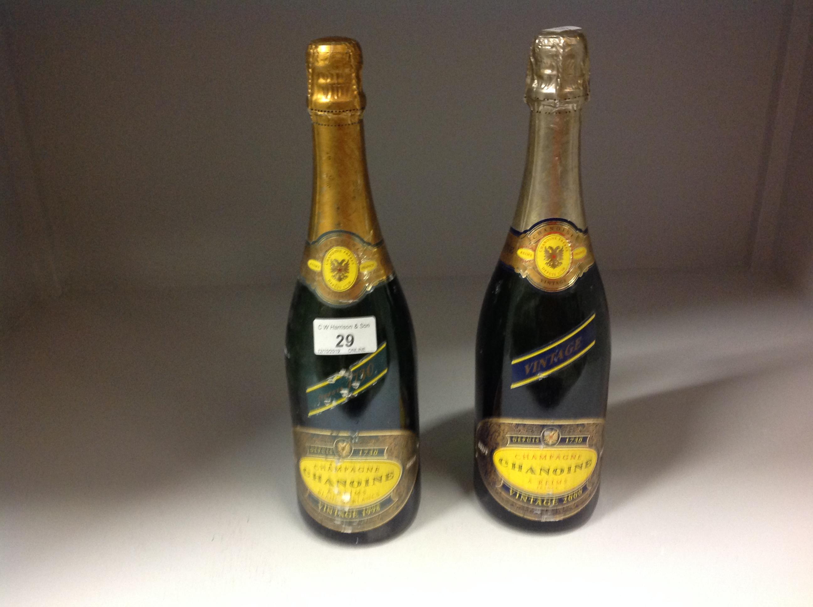 Lot 29 - 2 x 75cl bottles Chanoine Champagne vint