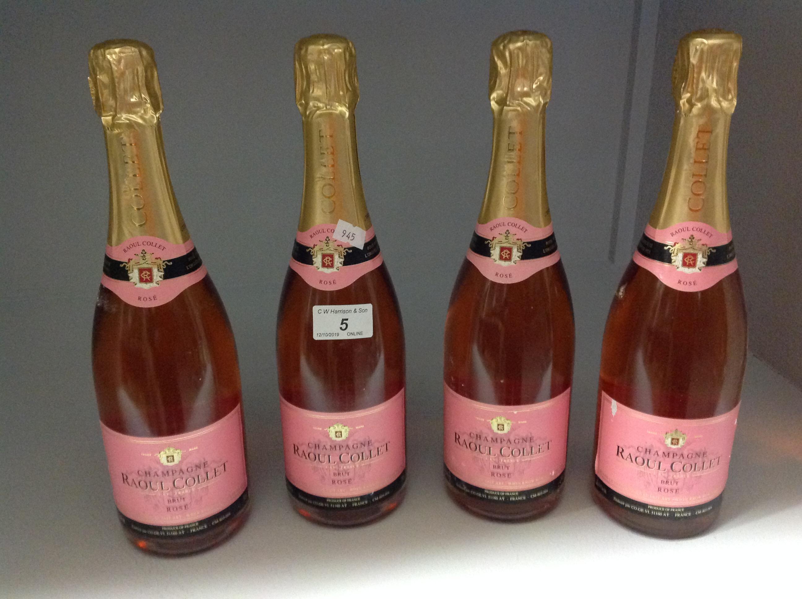 Lot 5 - 4 x 750ml bottles Raoul Collet Brut Rose