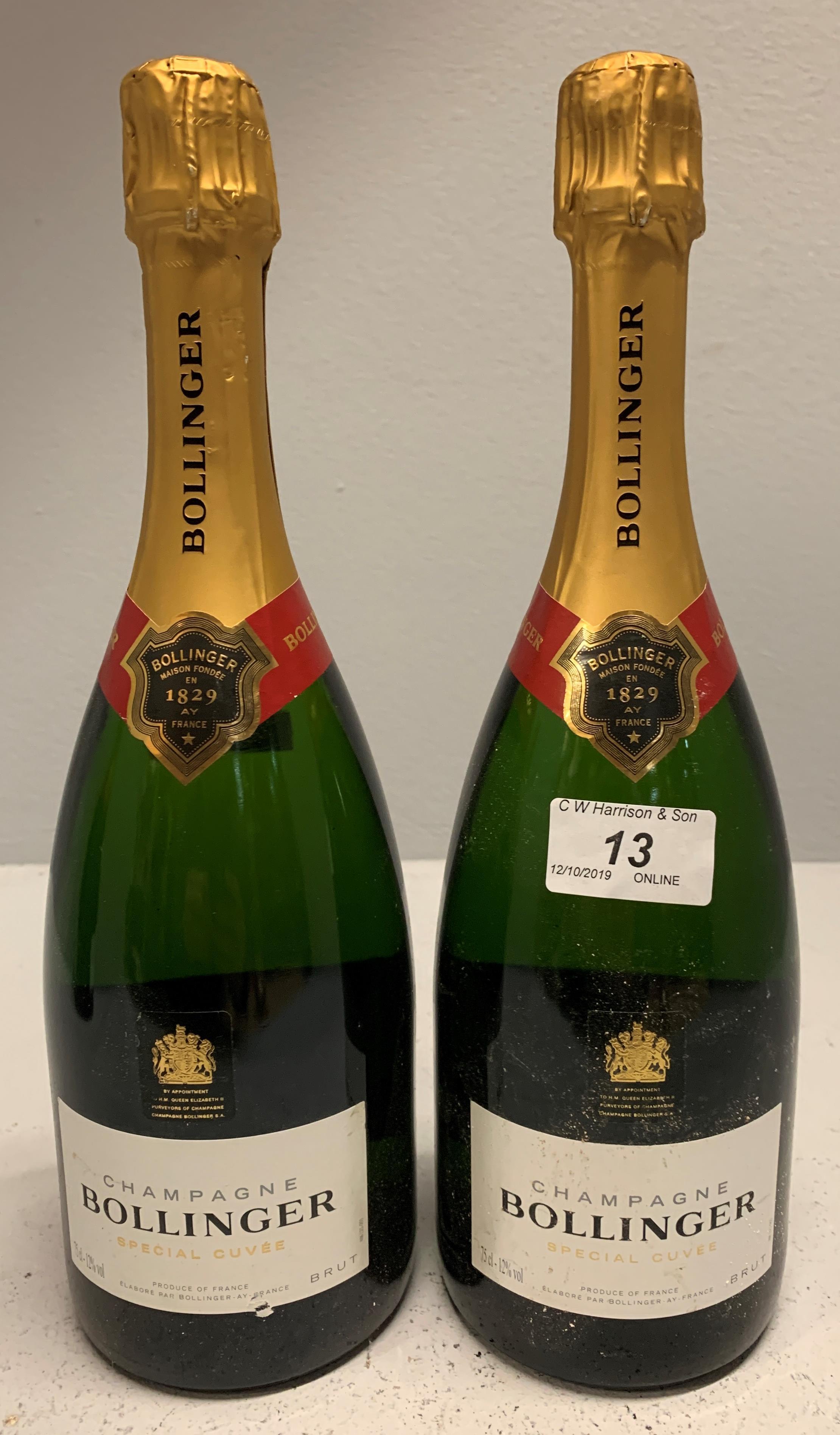 Lot 13 - 2 x 75cl bottles Bollinger Brut Special