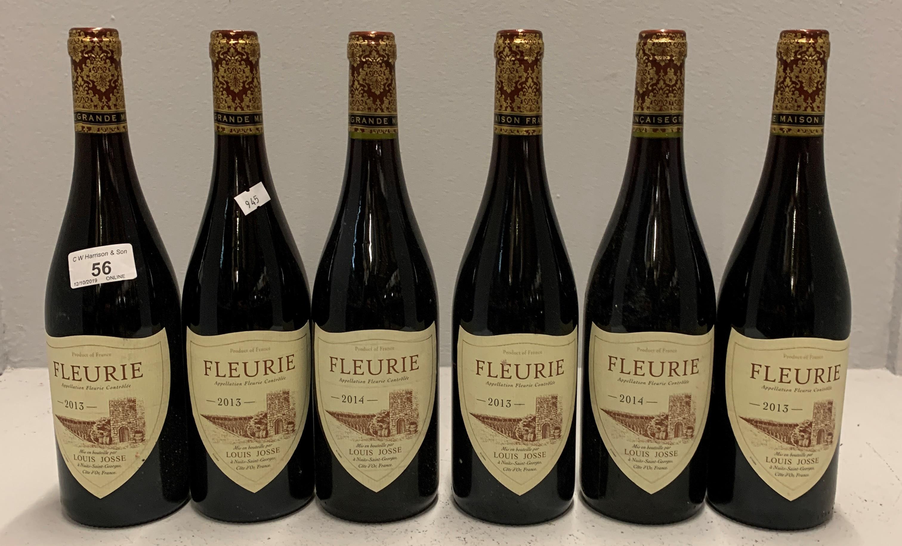 Lot 56 - 6 x 750ml bottles Louis Josse Fleurie