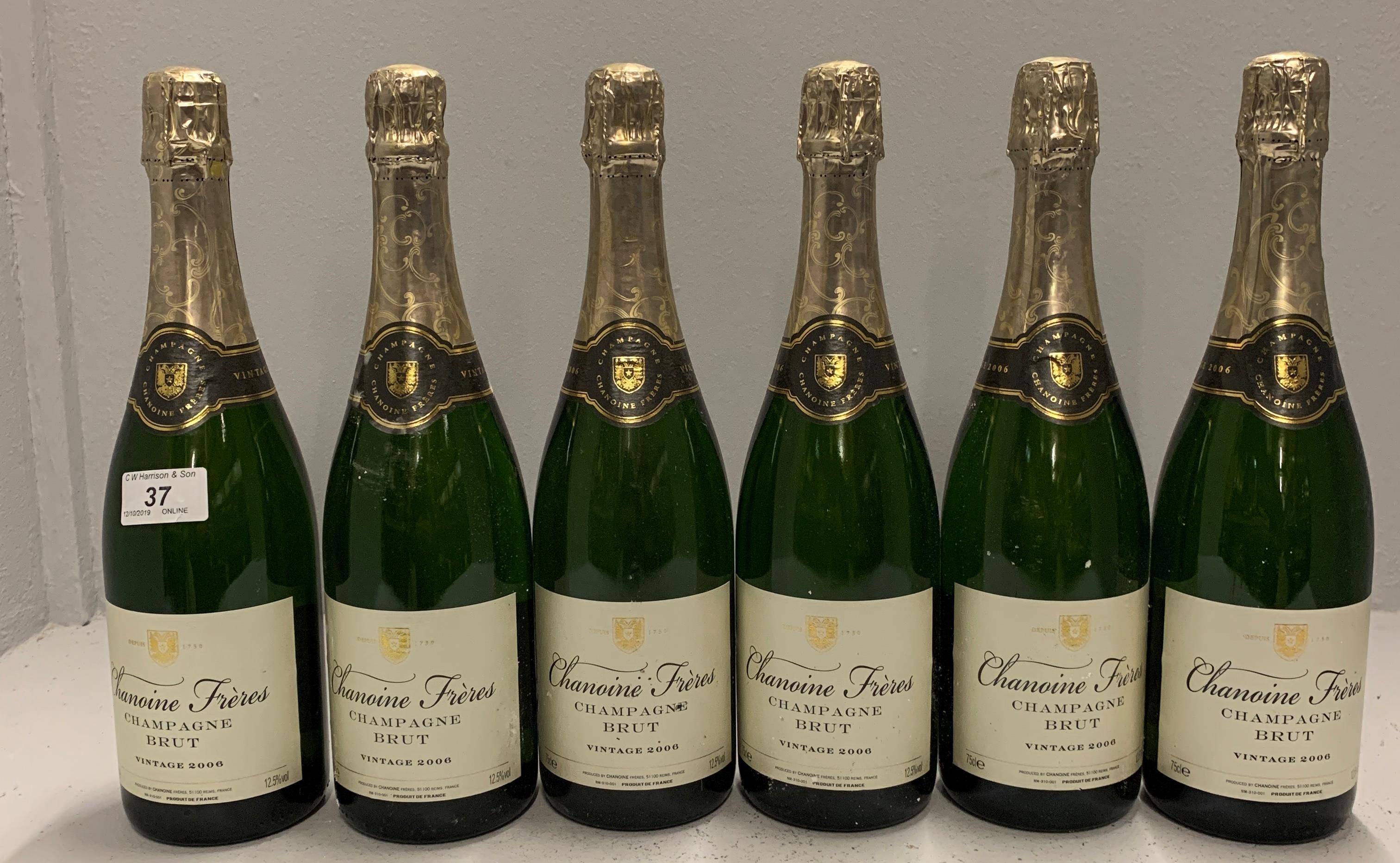Lot 37 - 6 x 75cl bottles Chanoine Freres Champga