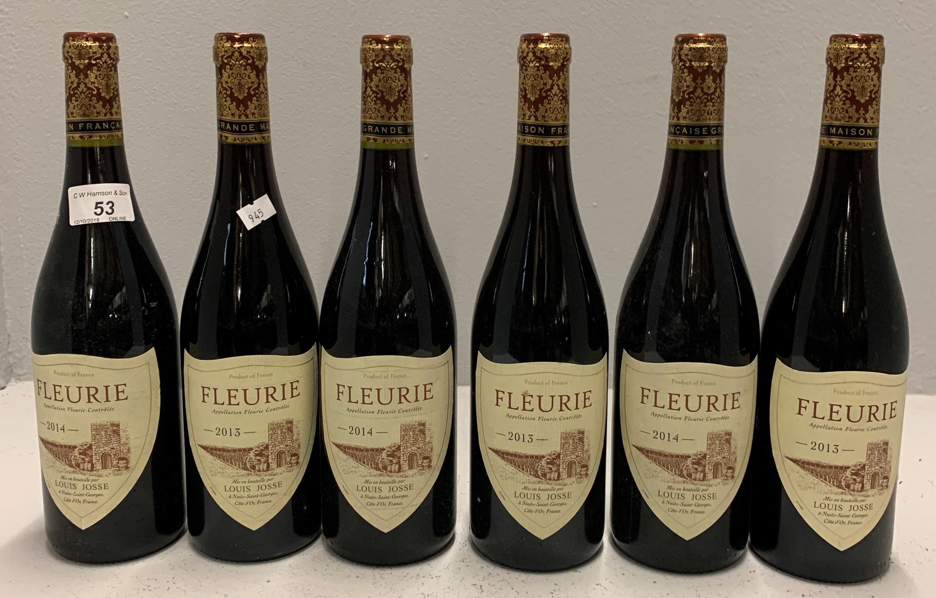 6 x 750ml bottles Louis Josse Fleurie