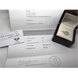 18ct GOLD DIAMOND RING COST £1850 WITH CERTIFICATE