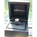 4.36CT DIAMOND SOLITAIRE RING SET IN WHITE METAL (TESTED AS 14CT)