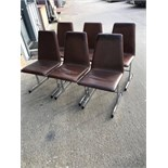 SET OF 60's/70's CHROME LEATHER CHAIRS