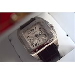 Steel Cartier Santos 100 XL Chronograph W20090X8