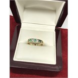 9ct EMERALD & DIAMOND 1/2 ETERNITY RING