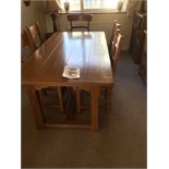 QUALITY OAK DINING SUITE INC TABLE & CHAIRS, DRESSER & BANKERS CHEST