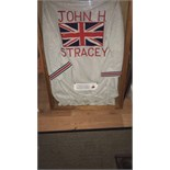 FRAMED BOXING GOWN MARKED JOHN STRACEY