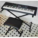 1 x Casio CTK 3400SK Portable Keyboard With Stand and Seating Stool - Ref KP104 -CL489 - Location: