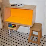 2 x Childrens Building Block Cabinets With Fitted Building Boards - Brillo / Lego - H94 x W79 x