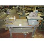 """4'x2' Steel Work Table, with Enco 00919118 12"""" Disc Sander, 1HP, and Darex Double End Drill"""