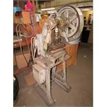 """HC Greenfield Small Mechanical Punch Press, 10""""x7"""" Bed, 4"""" Throat, Foot Pedal Controls, 120V 1PH"""