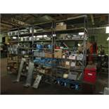 Contents of AC Assembly Area, To Include (7) Double Sided Wood Workstations, (28) Sections of