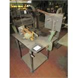 "Peck, Stow & Wilcox 975 11"" Manual Brake, with Pexto 622e Bead Roller/ Rotary Machine, 34""x22"" Cart"