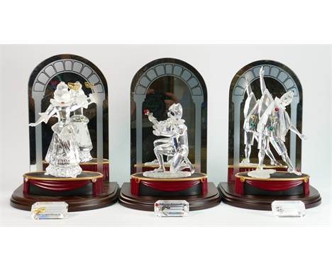 Swarovski Masquerade trilogy: to comprise Pierrot, Harlequin and Columbine, all in original boxes, complete with certificates